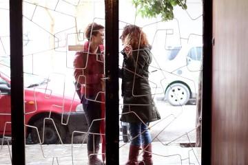 lgbtq social video kiss in Athens lesbian